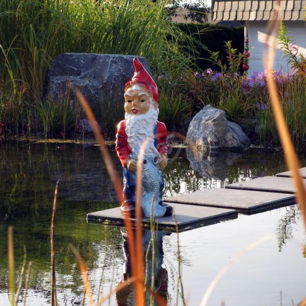 D&W Collection Deko Werbe Figur Garten Zwerg Dwarf Angler Fischer Dekoration Werbung günstig kaufen