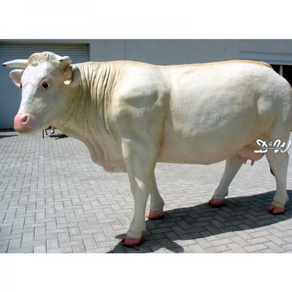 Kuh Charolais creme (lebensgroß)