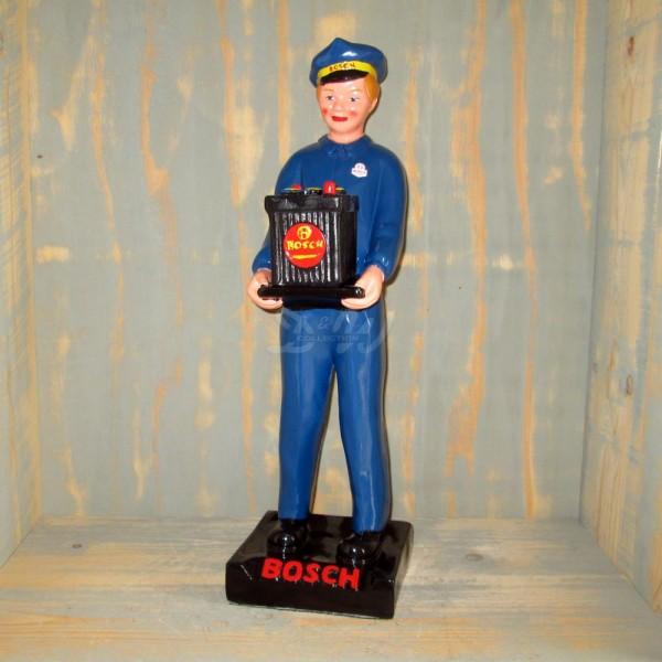 D&W Collection Deko Figur Bosch Mann mit Batterie Auto Werkstatt Tankstelle Werbung