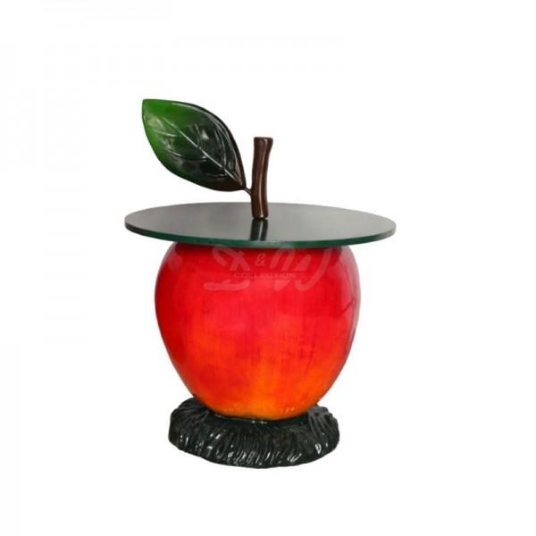 Apfel rot Tisch 112 cm Möbel für Obsthof