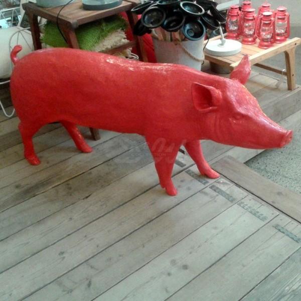 Schwein - Hausschwein (lebensgroß) pink hochglänzend
