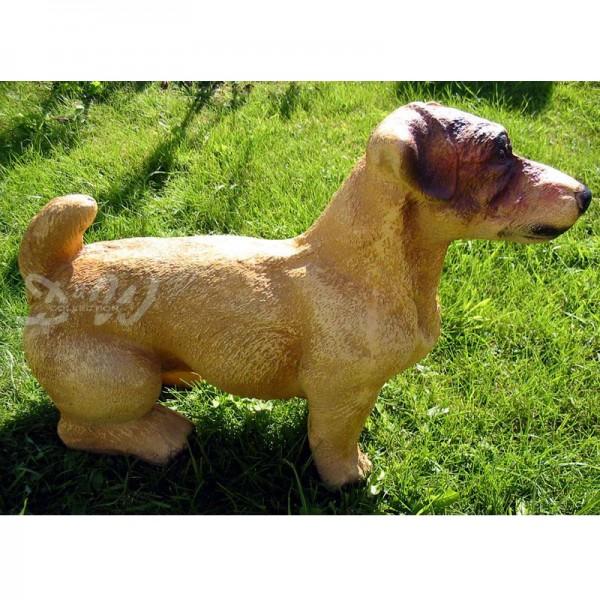 Jack Russell Hund sitzend braun (groß)
