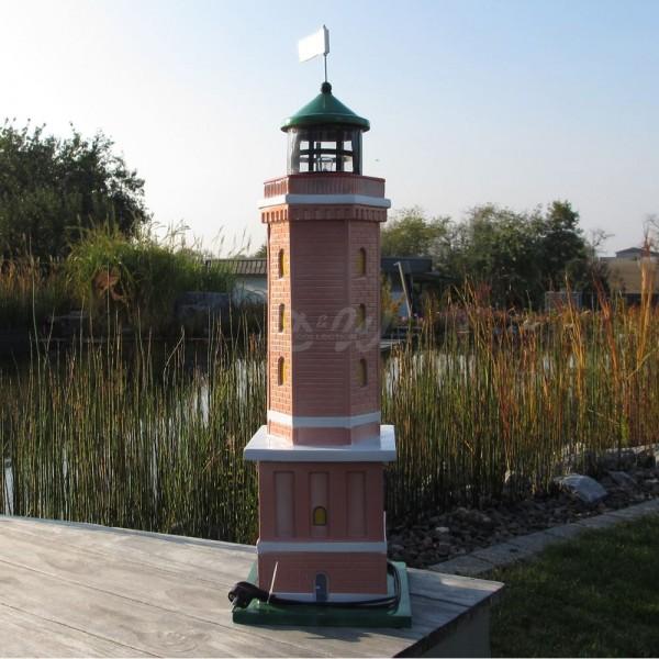 """Leuchtturm """"Norderney"""" 98 cm Backstein - Kantenlänge: 29 cm"""