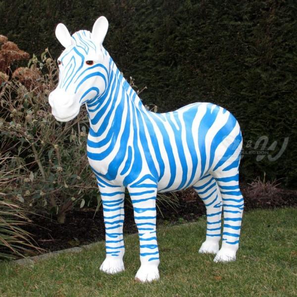 Zebra blau-weiß (mittel)
