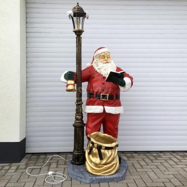 D&W Collection Deko Werbe Figur Weihnachtsmann Nikolaus mit Laterne und Geschenkesack Advent Weihnachts Dekoration Garten Werbung günstig kaufen