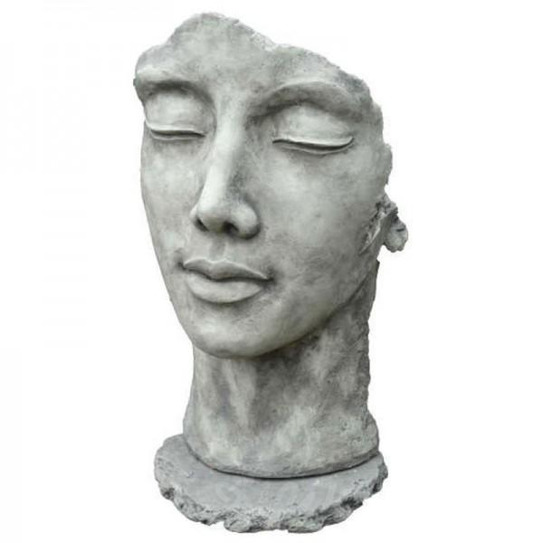 Gesicht Frau inkl. Platte zur Montage (groß)