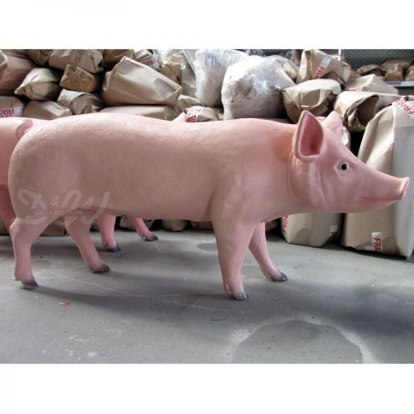 Schwein - Hausschwein (lebensgroß) natürliche Bemalung