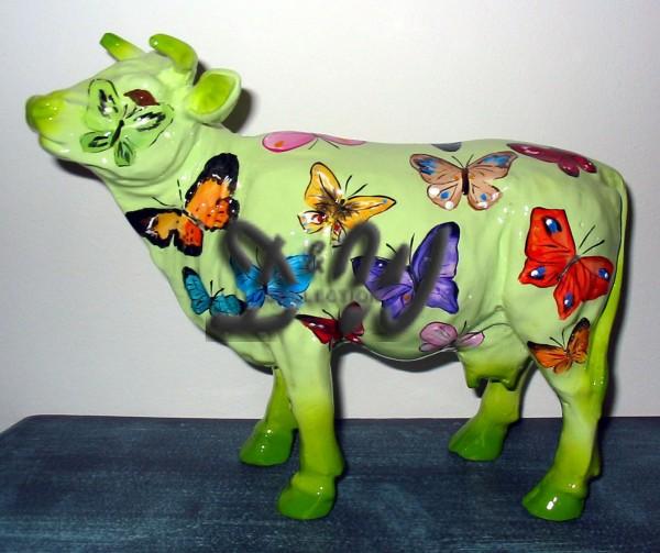 "Kuh mit Kunstbemalung ""Schmetterling"" (Mini)"