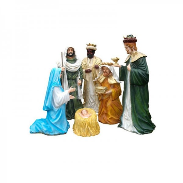 Weihnachtskrippe 6-teilig Krippenfiguren (groß)