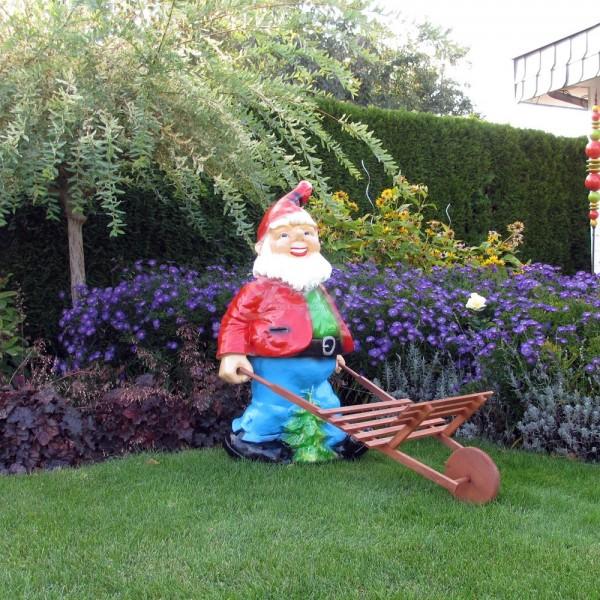 D&W Collection Deko Werbe Figur Garten Zwerg Dwarf Schubkarre Dekoration Werbung günstig kaufen