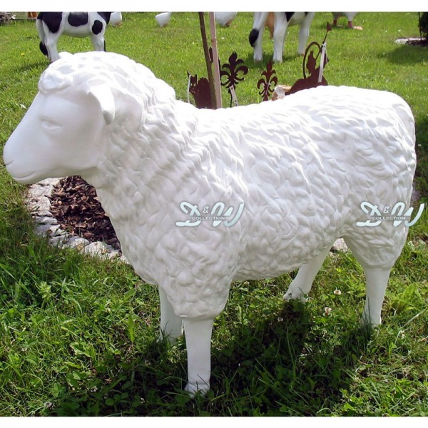 Schaf weiß strukturiert Rohling (groß) Kopf geradeaus