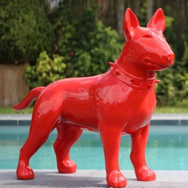 Bullterrier Hund rot (überlebensgroß)