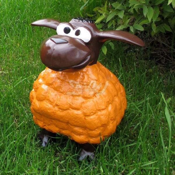 Wölkchen Schaf orange (klein) brauner Kopf