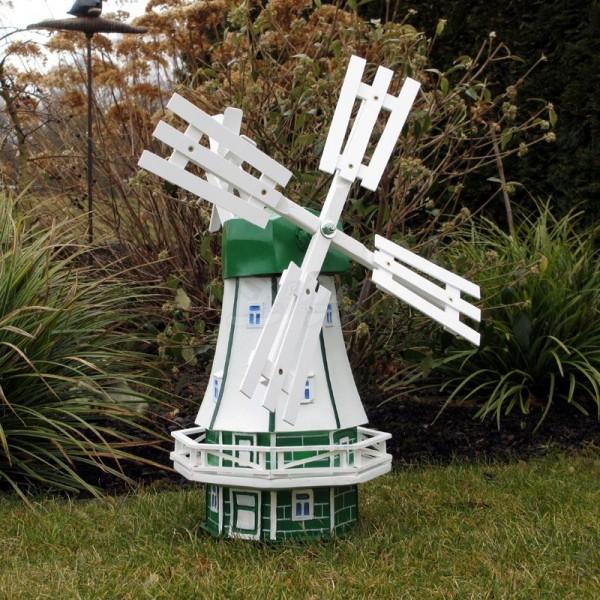 """Windmühle """"Maike"""" mit Galerie grün-weiß - Kopfhöhe 46 cm"""