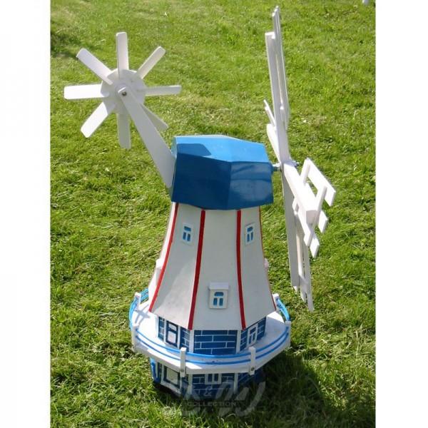 "Windmühle ""Maike"" mit Galerie blau-weiß-rot - Kopfhöhe 46 cm"
