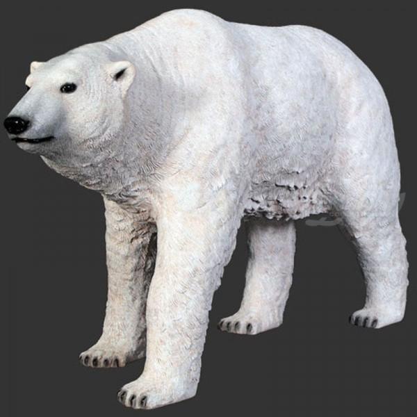 D&W Collection Deko Werbe Tier Figur Eisbär stehend lebensgroß Garten Dekoration Werbung günstig kaufen