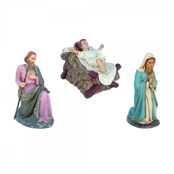 Heilige Familie (Josef, Maria und Jesuskind) Krippenfiguren (lebensgroß)