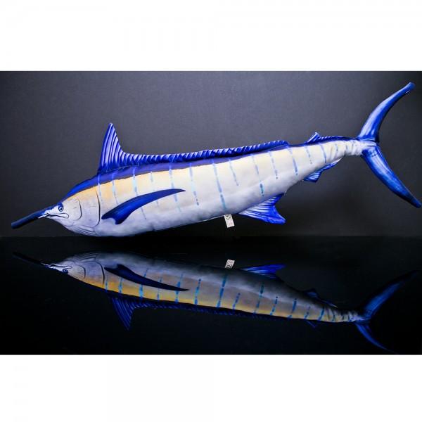 D&W Collection Deko Werbe Figur Fischkissen Blue Marlin Kuschelkissen Geschenk Angler Kinder Angel Sport