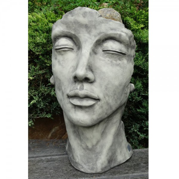 D&W Collection Deko Werbe Figur Gesicht Frau Steinguss Werbung