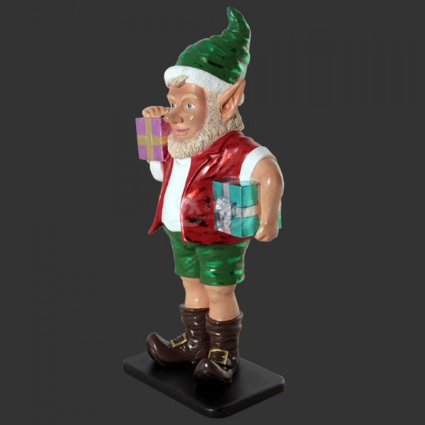 Weihnachtself mit Geschenken (groß)
