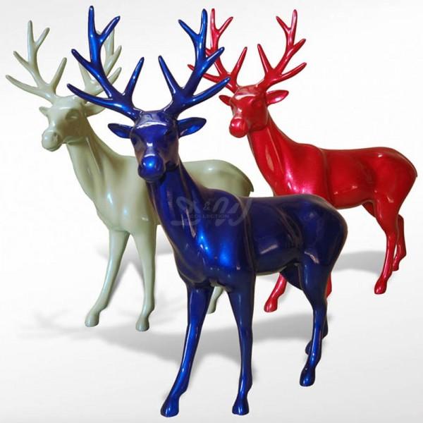 Hirsch stehend in Metallic-Farben (groß) Weihnachten