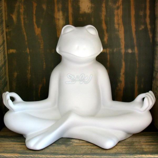 Yoga Frosch im Lotussitz Rohling