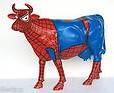 "Kuh mit Kunstbemalung ""Spiderman"" (Lebensgroß)"