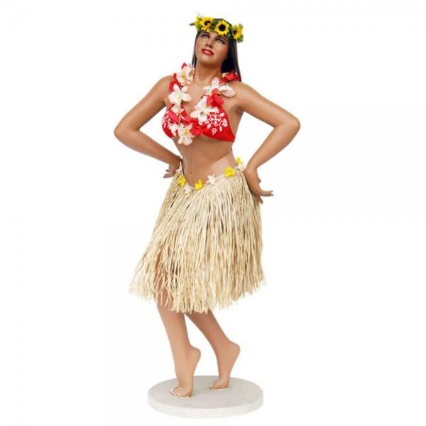 D&W Collection Deko Werbe Figur Kino Film Hula Girla mit Bastrock und Blumenkette Hawaii Aloha Tanz Werbung
