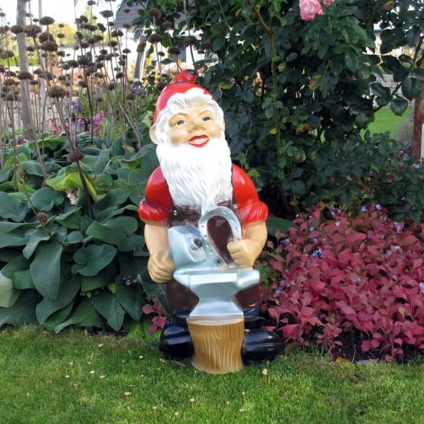 D&W Collection Deko Werbe Figur Garten Zwerg Dwarf Schmied Amboss Dekoration Werbung günstig kaufen