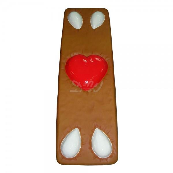 Lebkuchen mit Mandeln und Herz 187 cm