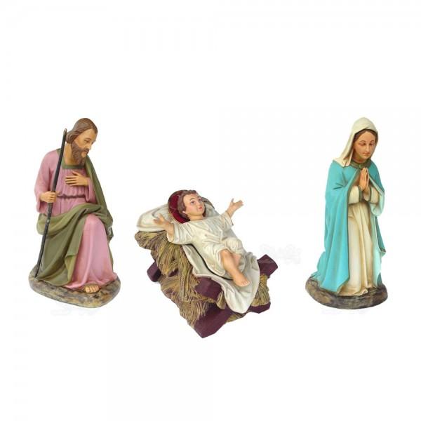 Heilige Familie (Josef, Maria und Jesuskind) Krippenfiguren (groß)