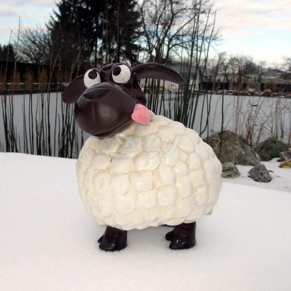 Wölkchen Schaf weiß (klein) brauner Kopf frech (streckt die Zunge raus)