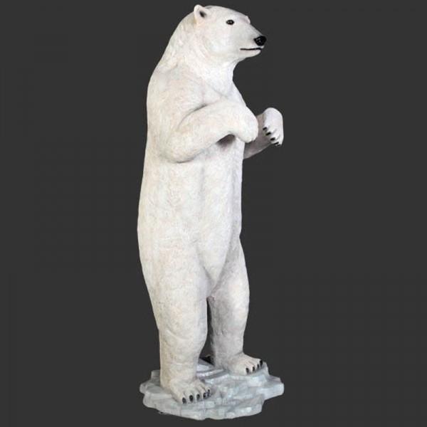 D&W Collection Deko Werbe Tier Figur Eisbär aufrecht stehend lebensgroß Garten Dekoration Werbung günstig kaufen