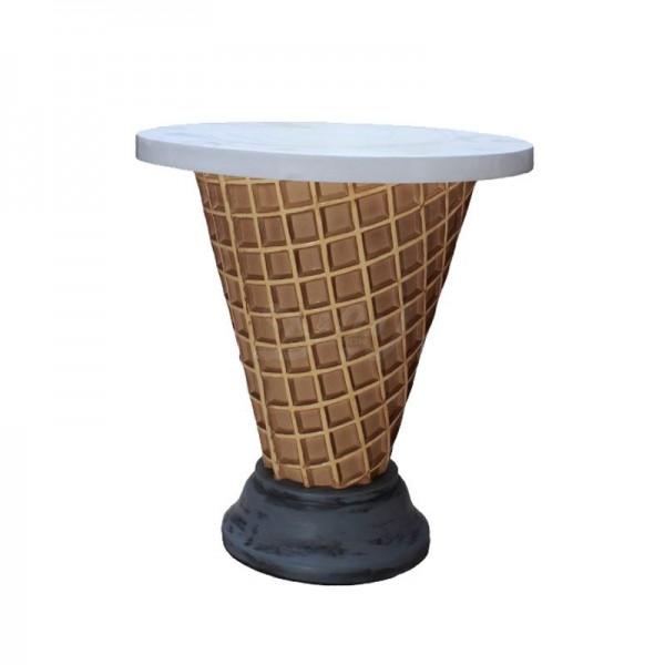 Möbel für Eiscafé Softeis Vanille Tisch 71 cm