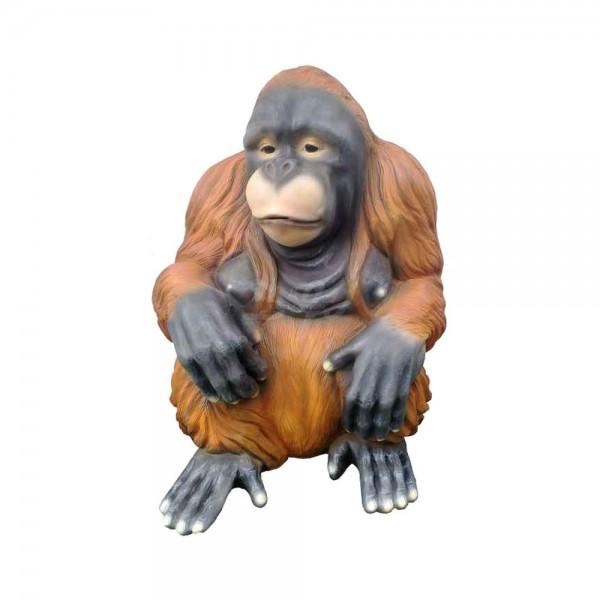 D&W Collection Deko Werbe Monkey Figur Affe Orang Utan sitzend mittel Zoo Tierpark Garten Dekoration Werbung günstig kaufen