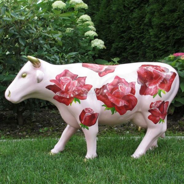 """Kuh mit Kunstbemalung """"Rosen"""" (klein)"""