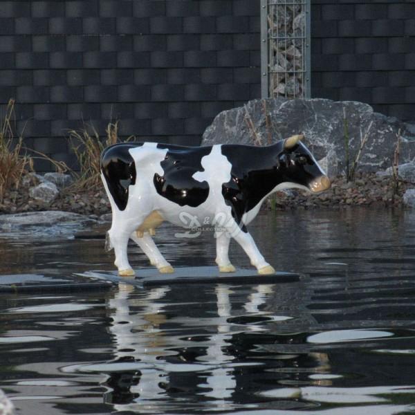 """Kuh friesisch """"Kopf gerade"""" schwarz-weiß (klein) Neues Modell!"""