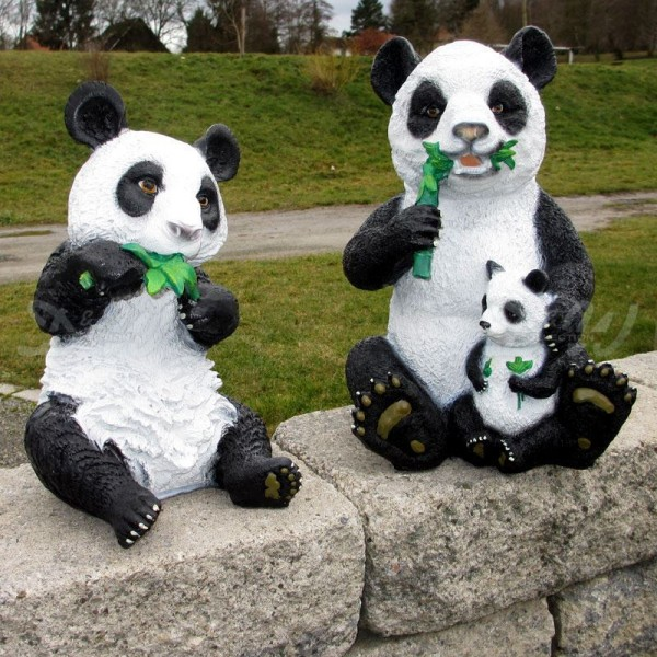 Pandabären 2er Set mit Baby (klein)