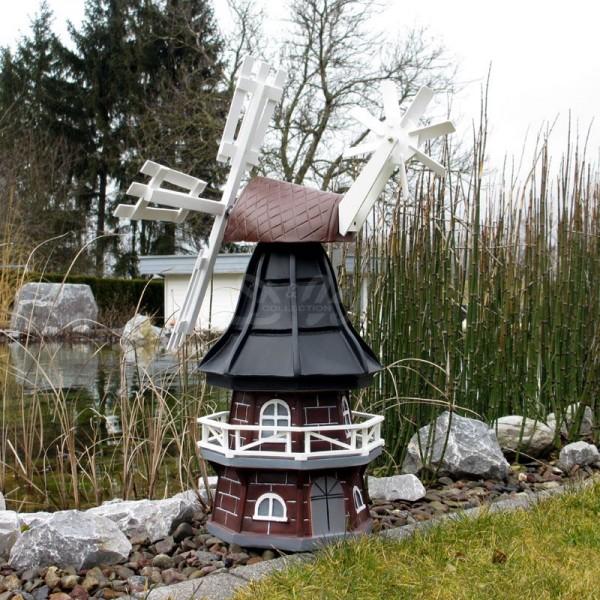 """Windmühle """"Olivia"""" mit Galerie braun-schwarz - Kopfhöhe 60 cm"""
