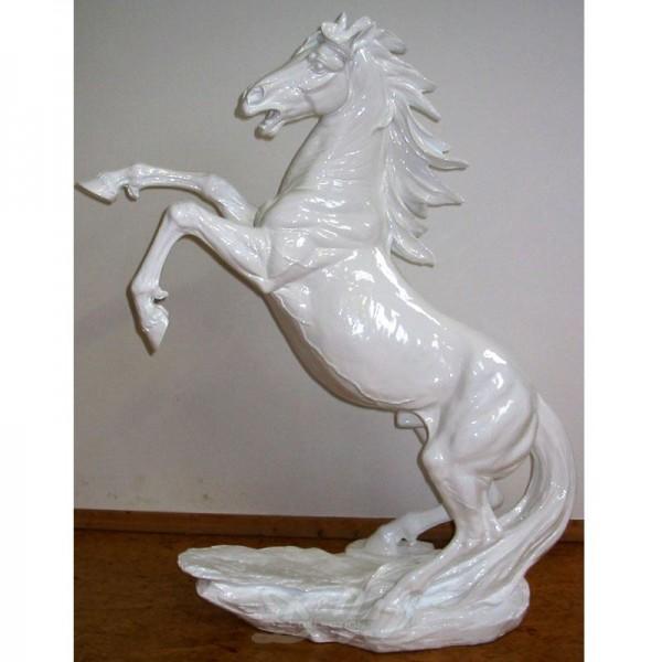 Pferd steigend (groß) weiß Lack