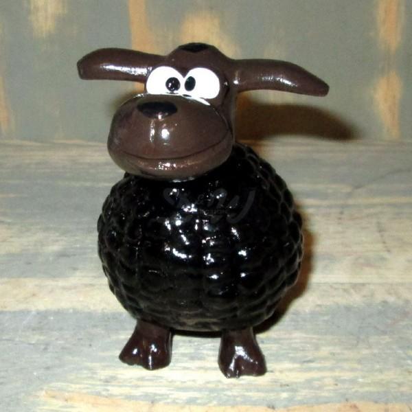 Wölkchen Schaf schwarz (mini) brauner Kopf