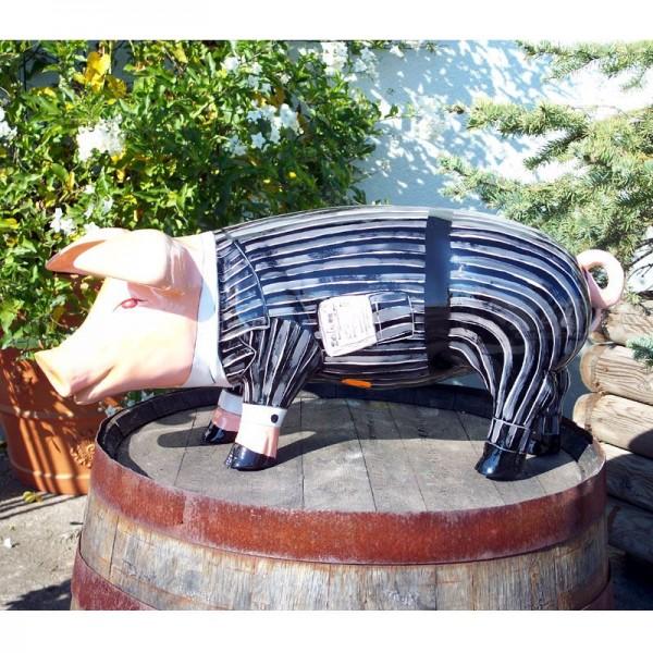 """Schwein mit Kunstbemalung """"Anzug Business"""" (klein)"""