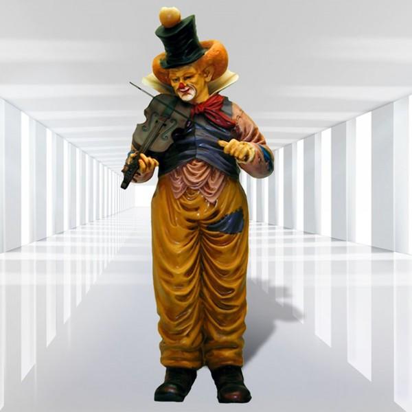 Clown stehend mit Geige (lebensgroß)