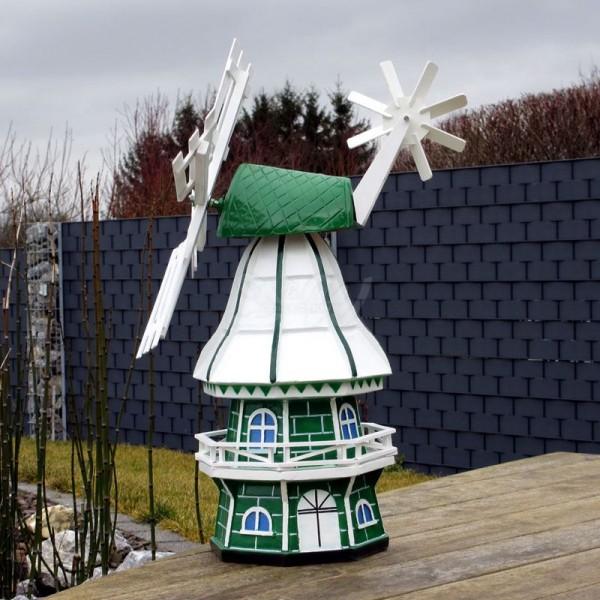 """Windmühle """"Olivia"""" mit Galerie grün-weiß - Kopfhöhe 60 cm"""