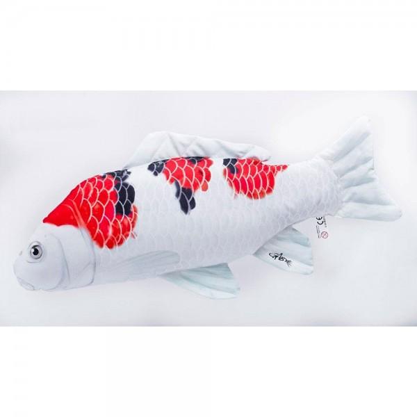 D&W Collection Deko Werbe Figur Fischkissen Koi Karpfen Sanke Kuschelkissen Geschenk Angler Kinder Angel Sport