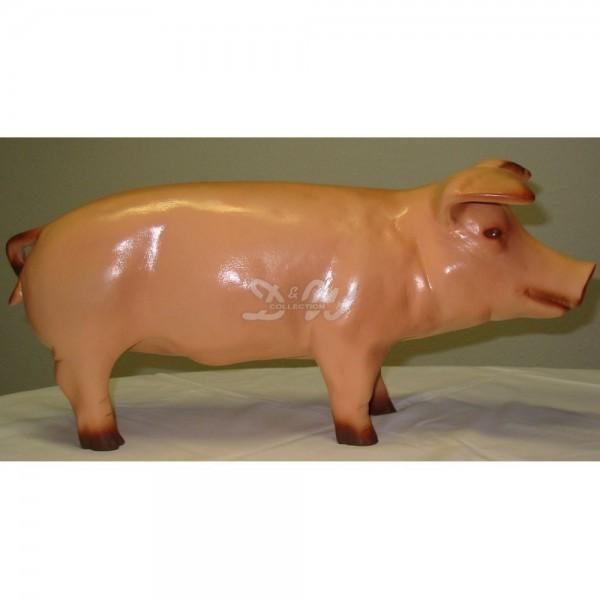 Schwein - Hausschwein (klein) natürliche Bemalung