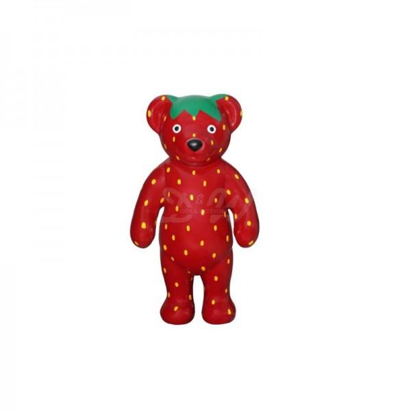 """Bär stehend mit Kunstbemalung """"Erdbeere"""" (klein)"""
