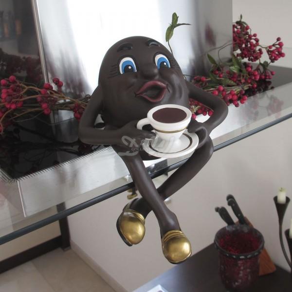 Kaffeebohne mit Kaffeetasse (klein)