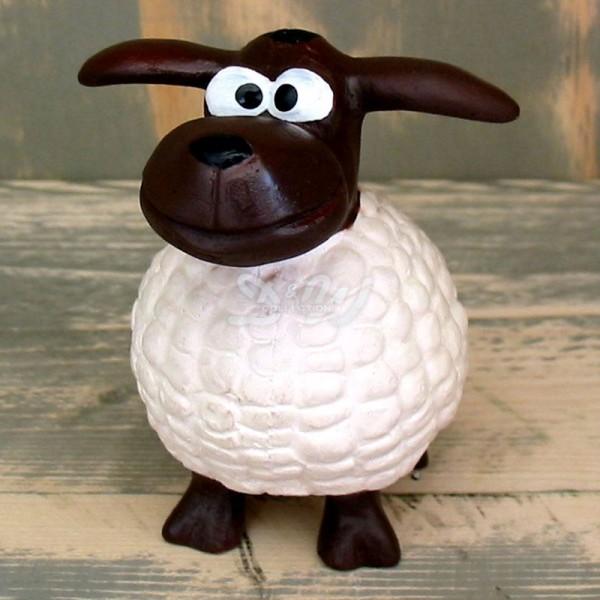 Wölkchen Schaf weiß (mini) brauner Kopf