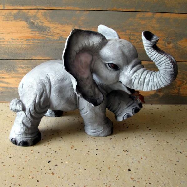 D&W Collection Deko Werbe Tier Figur Elefant mit Maus Dekoration Garten Werbung günstig kaufen